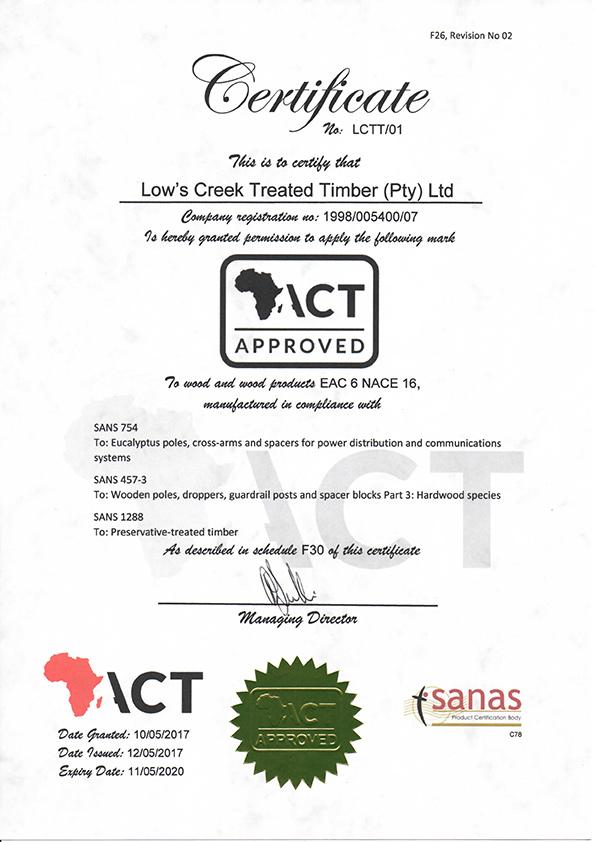 sans lctt act certification